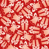 Christmas bells and gifts Royalty Free Stock Images