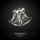 Christmas Bells of Glittering Lights Royalty Free Stock Images