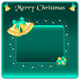 Christmas bells gold and bow Stock Images