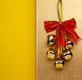 Christmas Bells On The Golden Background Royalty Free Stock Images