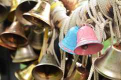 Christmas bells hanging at Faber Peak, Singapore. Royalty Free Stock Photos