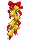 Christmas bells illustration. Stock image Royalty Free Stock Photography