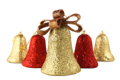 Christmas bells isolated Stock Photo