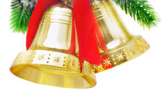 Christmas bells. Isolated on white background Royalty Free Stock Images