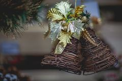 Christmas bells, New Year decorations. royalty free stock image