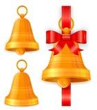 Christmas Bells On White Stock Image