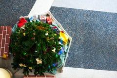 Christmas bells pine tree feeling full happy Stock Image