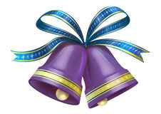 Christmas Bells in purple colour Royalty Free Stock Photos
