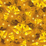 Christmas bells seamless pattern Stock Photo