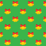 Christmas Bells Seamless Pattern Stock Image