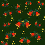 Christmas bells seamless pattern Royalty Free Stock Images