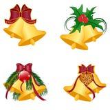 Christmas bells set on white background royalty free illustration