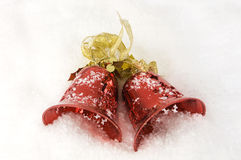Christmas Bells on Snow Royalty Free Stock Photo