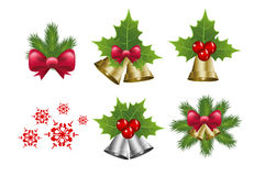 Christmas bells and snowflake vector Stock Photography