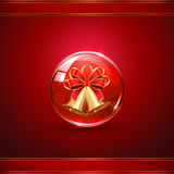 Christmas bells in sphere Royalty Free Stock Images