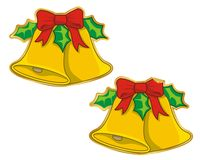 Christmas bells sticker vector Stock Photos