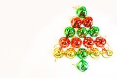 Christmas bells tree isolated Stock Photo