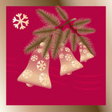 Christmas  bells vector  illustration. Royalty Free Stock Image