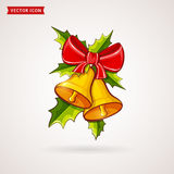 Christmas bells. Vector illustration. Royalty Free Stock Photo