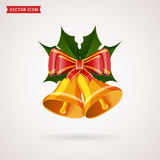 Christmas bells. Vector illustration. Stock Image