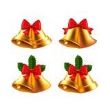 Christmas bells vector set Royalty Free Stock Image