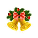 Christmas bells on white background Royalty Free Stock Photos