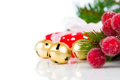 Christmas bells and xmas decoration Royalty Free Stock Photography