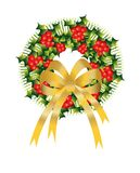 Christmas, bells, xmas, golden, holly, decoration, Stock Photography
