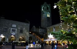 Christmas in Bergamo alta. Stock Image