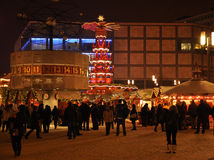 German Christmas market, Berlin Alexander platz Stock Photo