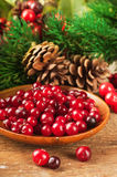 Christmas berries and spruce branch Stock Photo