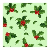Christmas berry decoration seamless pattern Stock Images