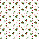 Christmas berry decoration seamless pattern Stock Image