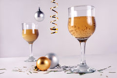Christmas beverage balls Royalty Free Stock Images