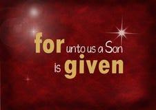 Christmas Bible verse with star Stock Photos