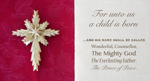 Christmas bible verse and star Royalty Free Stock Photo
