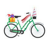 Christmas Bicycle Vector Illustration Royalty Free Stock Image