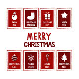 Christmas big card set Stock Image