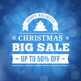 Christmas big sale background Royalty Free Stock Photo
