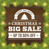 Christmas big sale background Stock Image