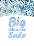 Christmas Big sale design template. Royalty Free Stock Images