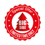 Christmas big sale special offer sticker. Vector illustration eps 10 Stock Images