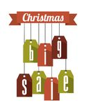 Christmas big sale tags Stock Photo