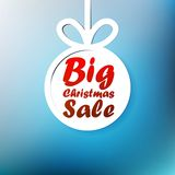 Christmas Big Sale template with copy space. Royalty Free Stock Photography