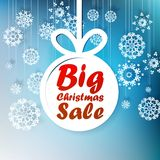 Christmas Big Sale template with copy space. Royalty Free Stock Images