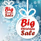 Christmas Big Sale template with copy space. Royalty Free Stock Image