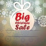 Christmas Big Sale template with copy space. Stock Photo