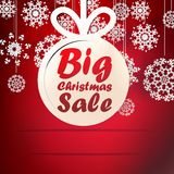 Christmas Big Sale template with copy space. Royalty Free Stock Photos