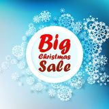 Christmas Big sale template. Royalty Free Stock Images