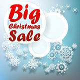 Christmas Big sale template. Stock Photography